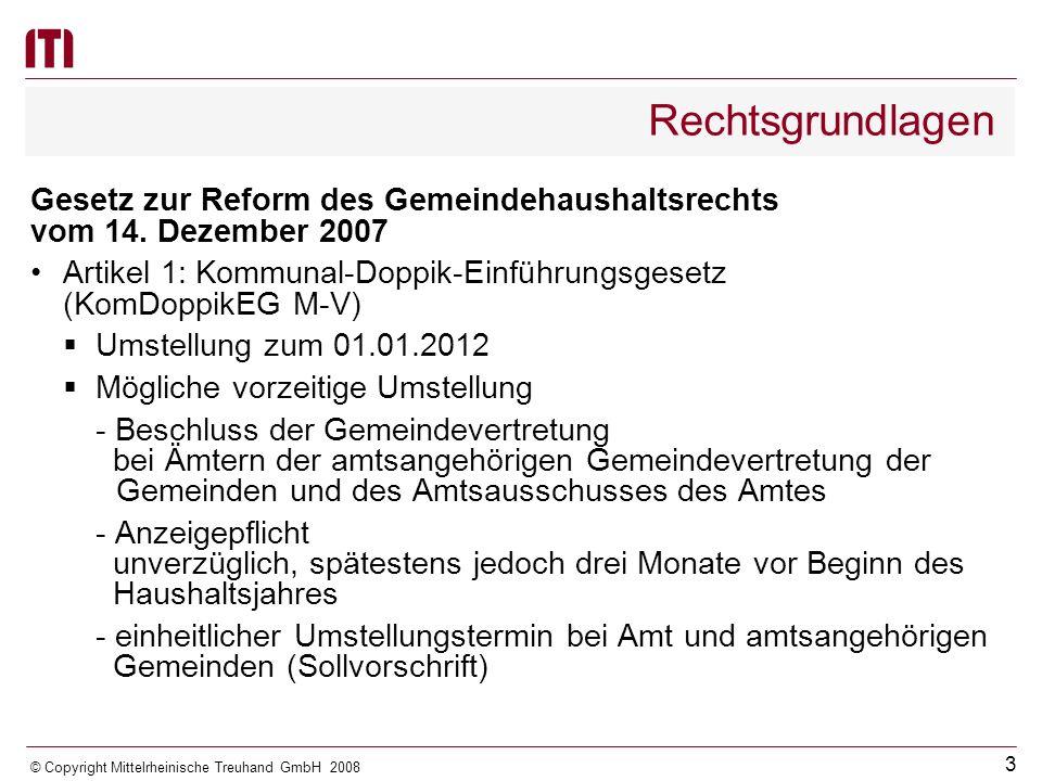Rechtsgrundlagen Gesetz zur Reform des Gemeindehaushaltsrechts