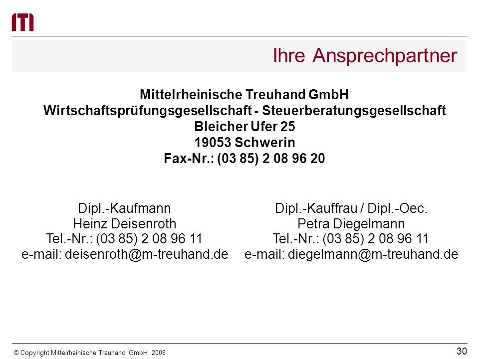 Ihre Ansprechpartner Mittelrheinische Treuhand GmbH