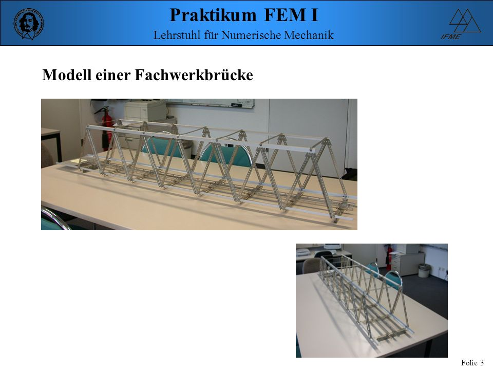 Modell einer Fachwerkbrücke