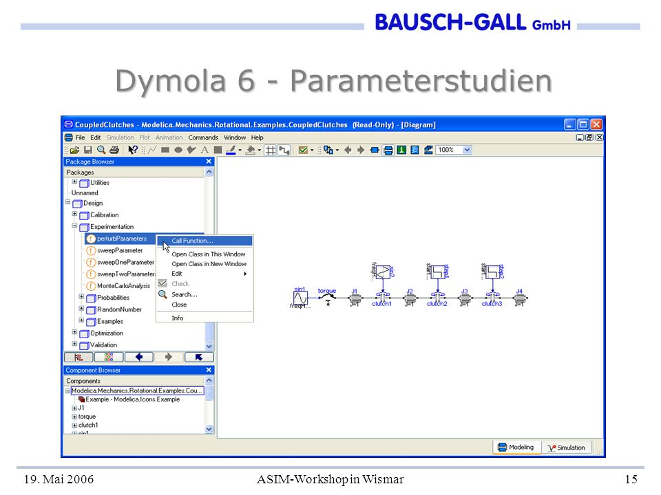 Dymola 6 - Parameterstudien