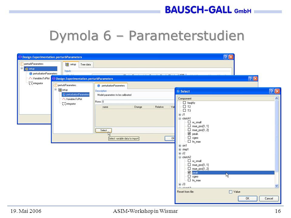 Dymola 6 – Parameterstudien