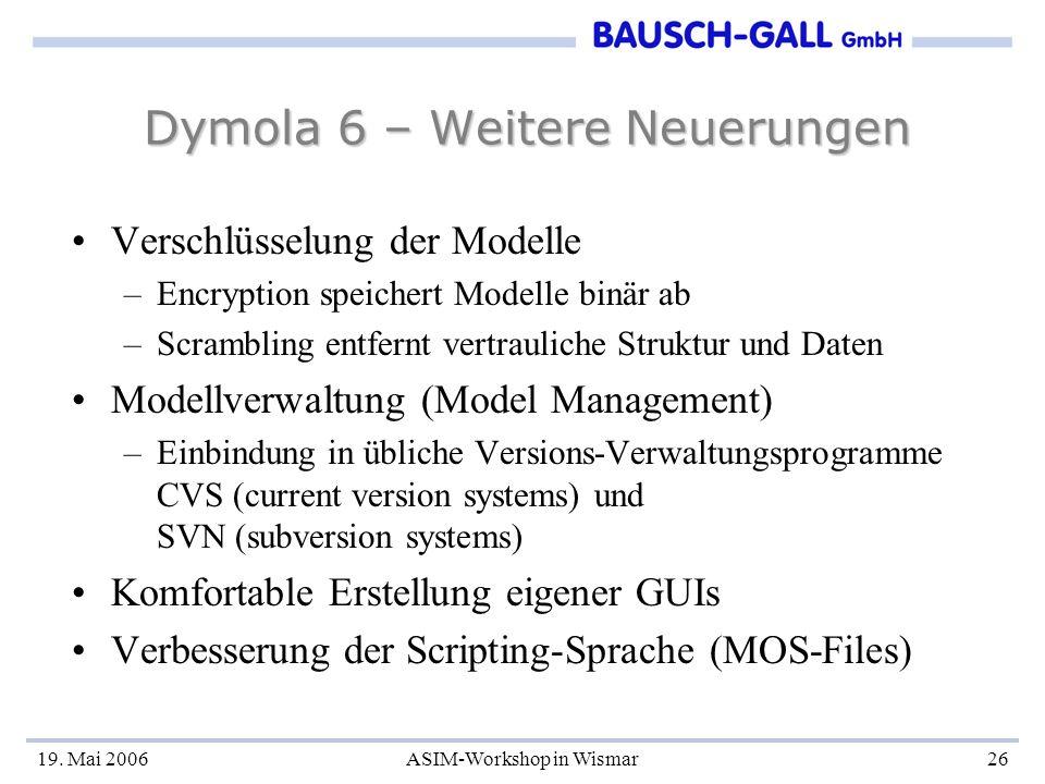 Dymola 6 – Weitere Neuerungen