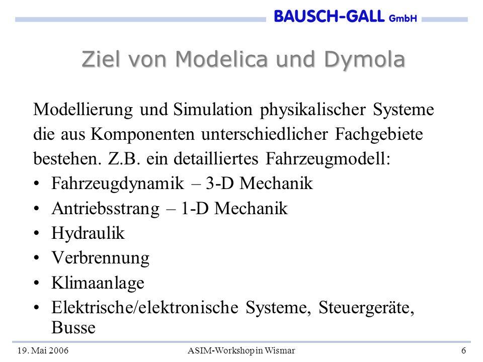 Ziel von Modelica und Dymola