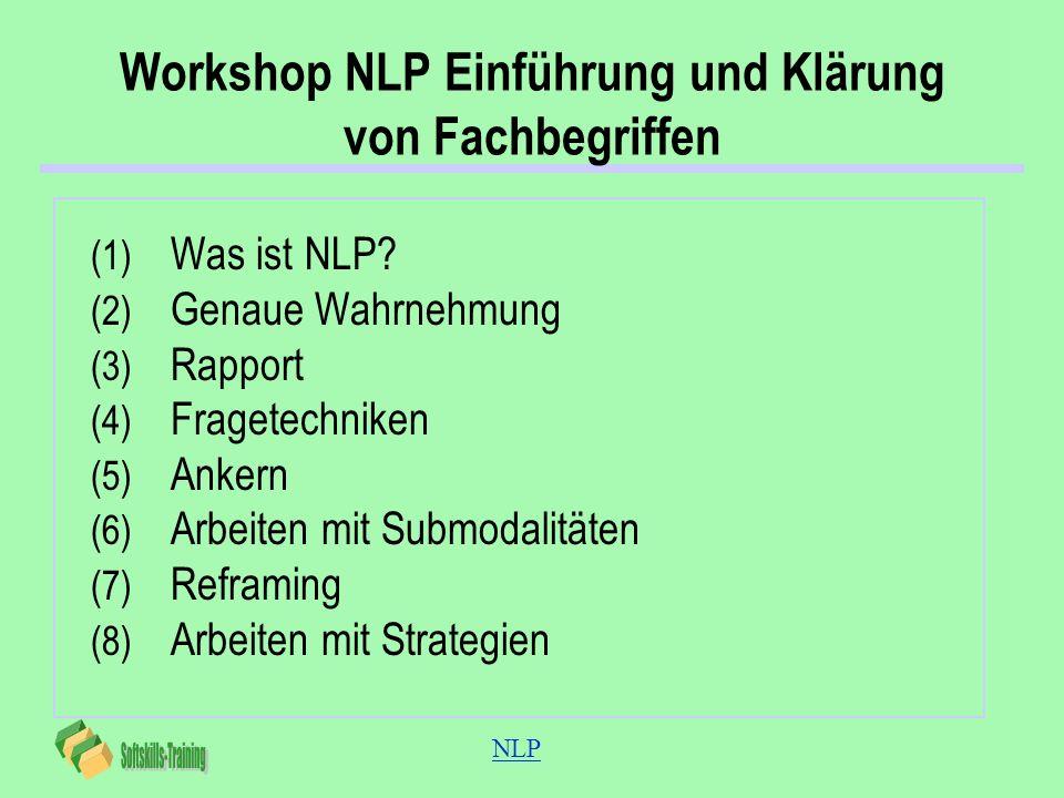 Workshop NLP Einführung und Klärung von Fachbegriffen