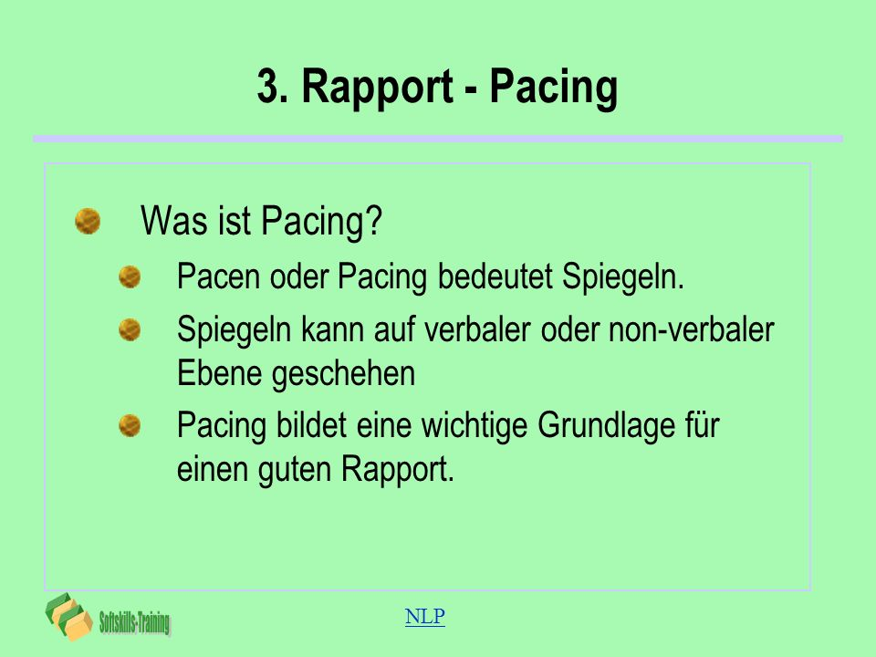 3. Rapport - Pacing Was ist Pacing