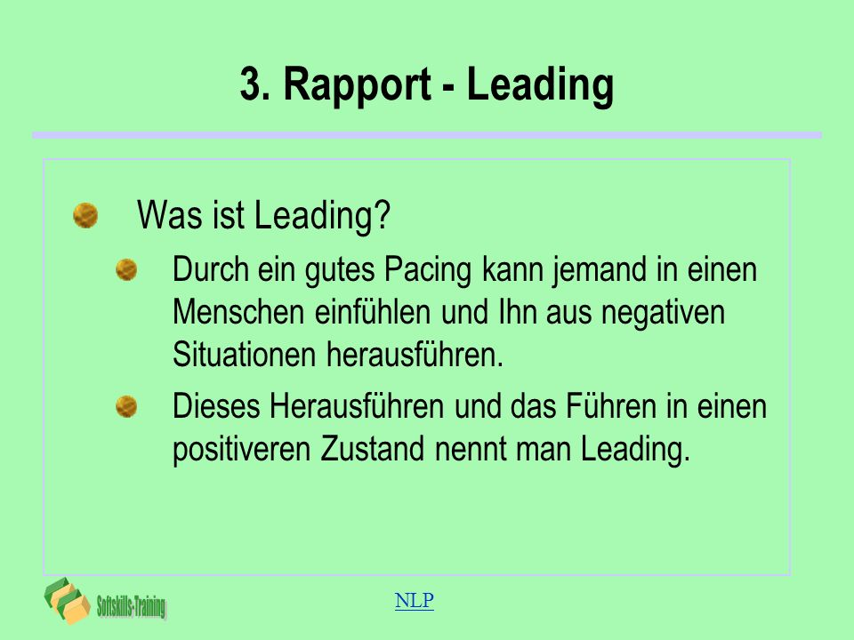 3. Rapport - Leading Was ist Leading