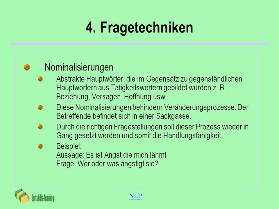 4. Fragetechniken Nominalisierungen