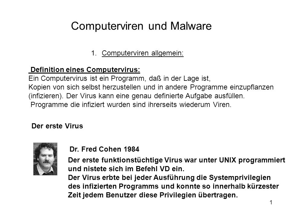 Computerviren und Malware