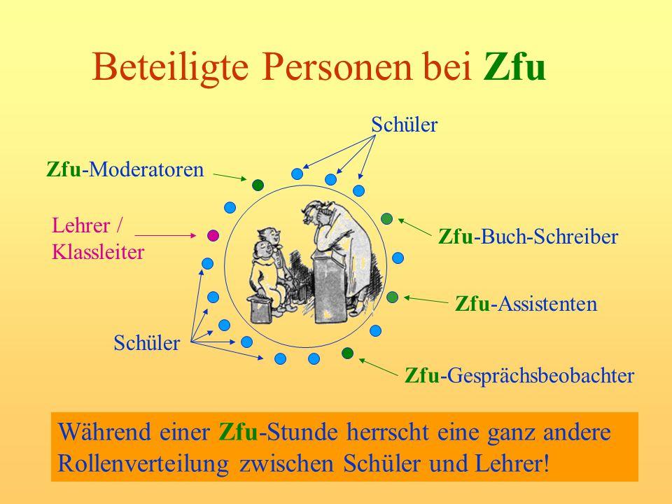 Beteiligte Personen bei Zfu