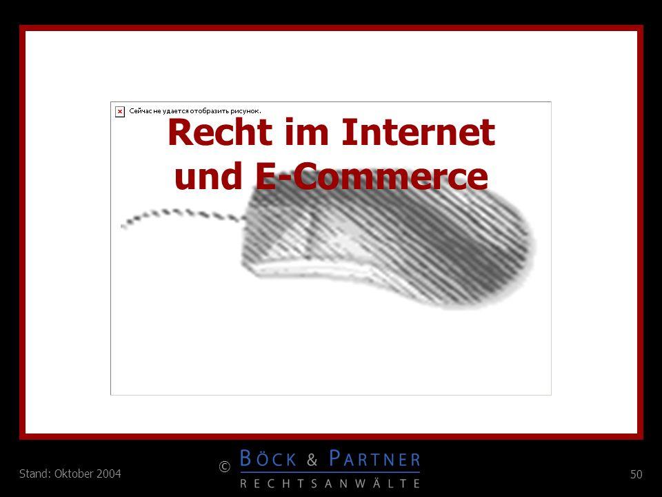 Recht im Internet und E-Commerce