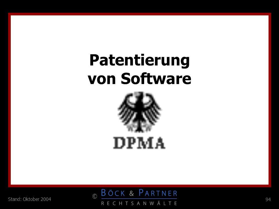 Patentierung von Software