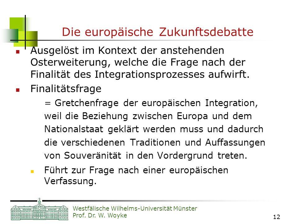 Die europäische Zukunftsdebatte