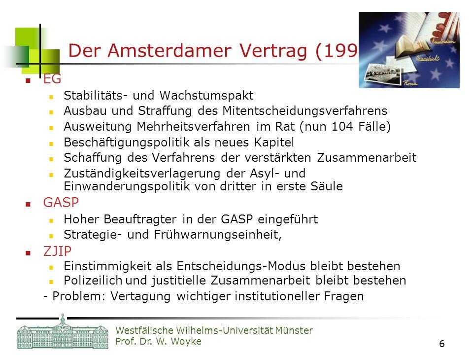 Der Amsterdamer Vertrag (1999)
