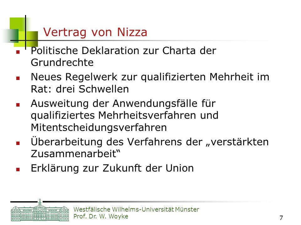 Vertrag von Nizza Politische Deklaration zur Charta der Grundrechte