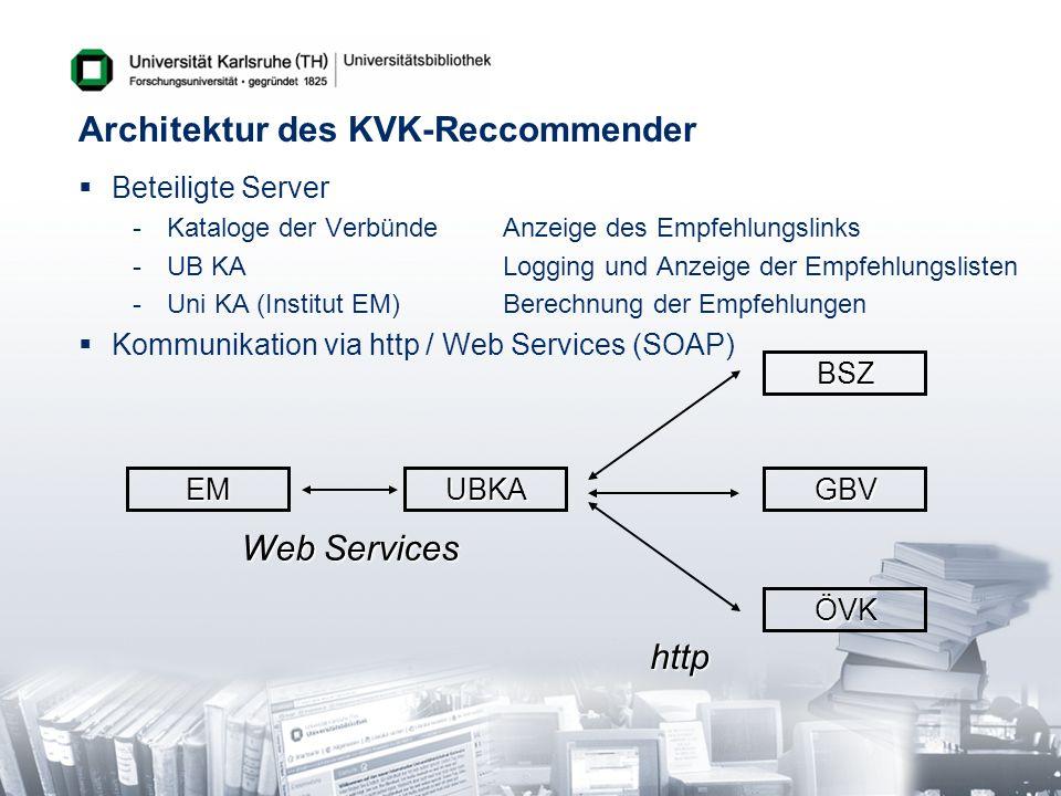 Architektur des KVK-Reccommender