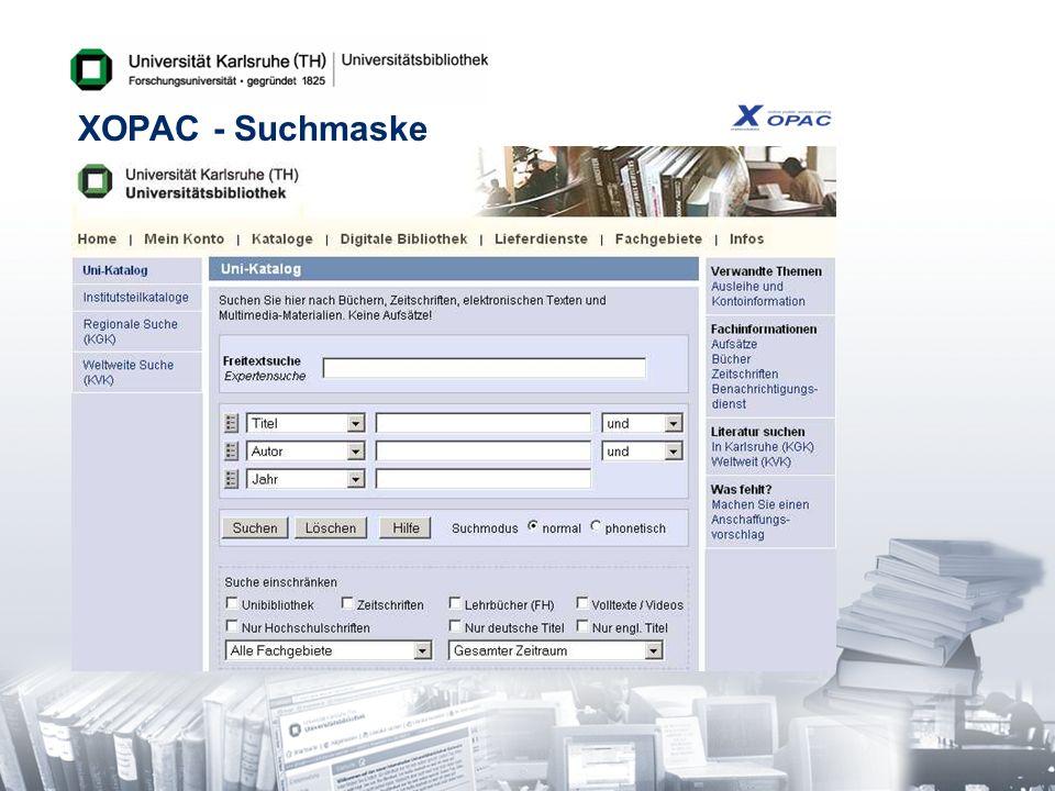 XOPAC - Suchmaske