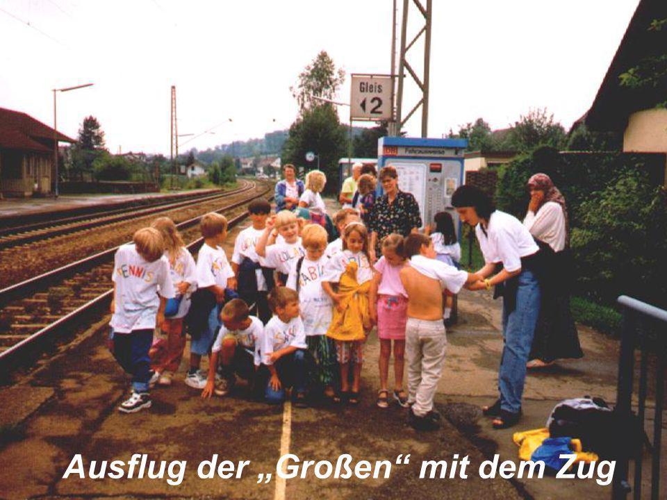 """Ausflug der """"Großen mit dem Zug"""