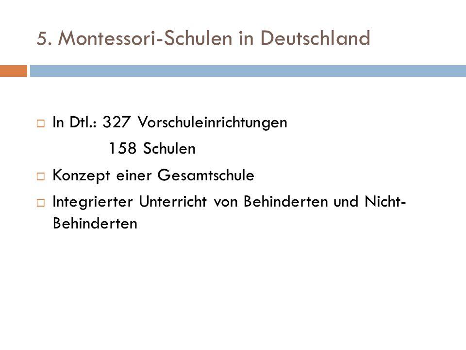 5. Montessori-Schulen in Deutschland