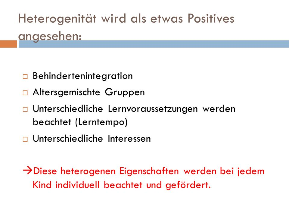 Heterogenität wird als etwas Positives angesehen: