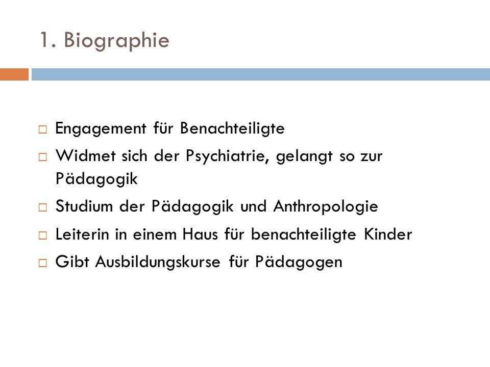 1. Biographie Engagement für Benachteiligte