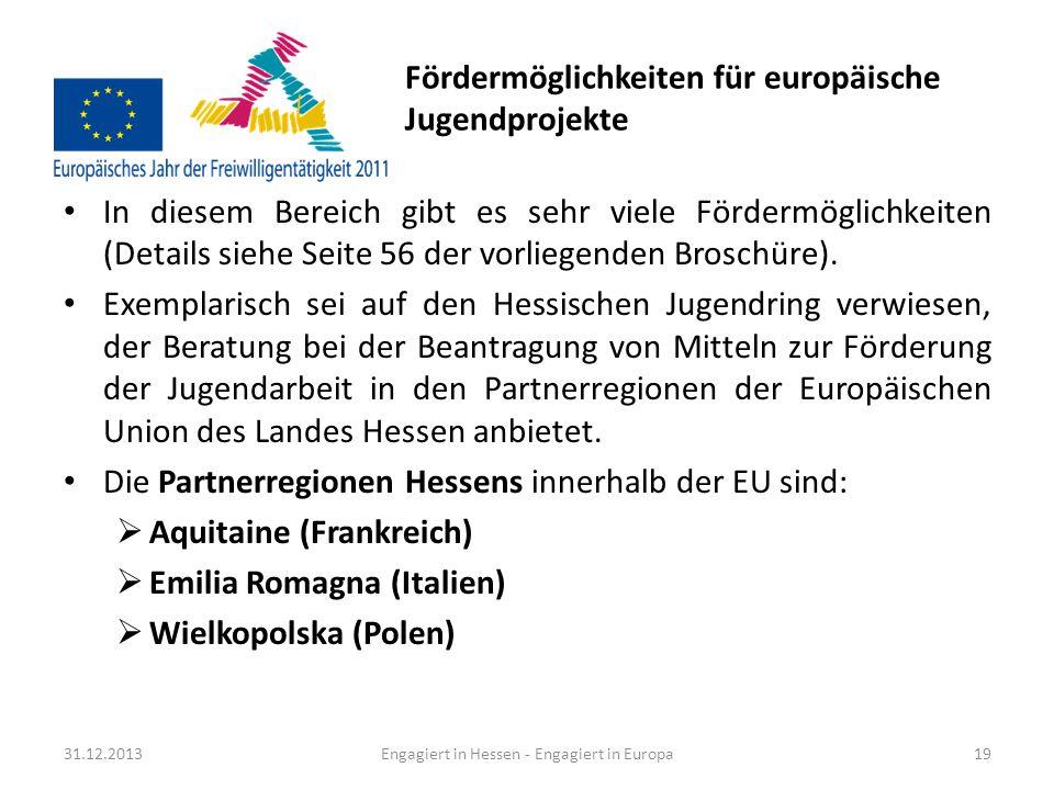 Fördermöglichkeiten für europäische Jugendprojekte
