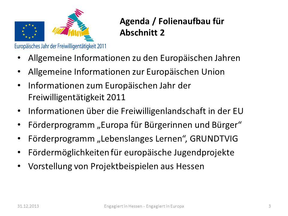 Agenda / Folienaufbau für Abschnitt 2