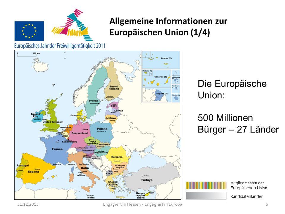 Allgemeine Informationen zur Europäischen Union (1/4)