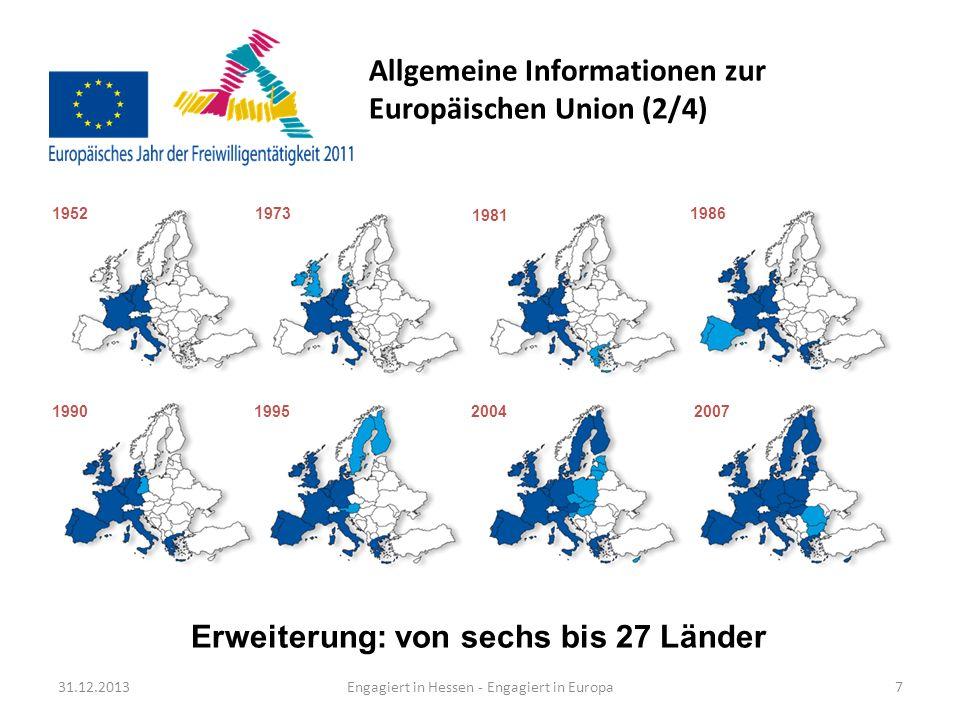 Allgemeine Informationen zur Europäischen Union (2/4)