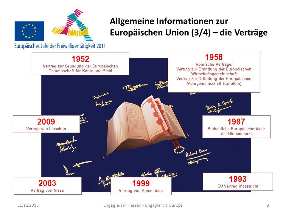 Allgemeine Informationen zur Europäischen Union (3/4) – die Verträge