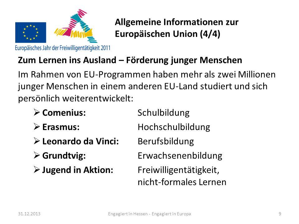 Allgemeine Informationen zur Europäischen Union (4/4)