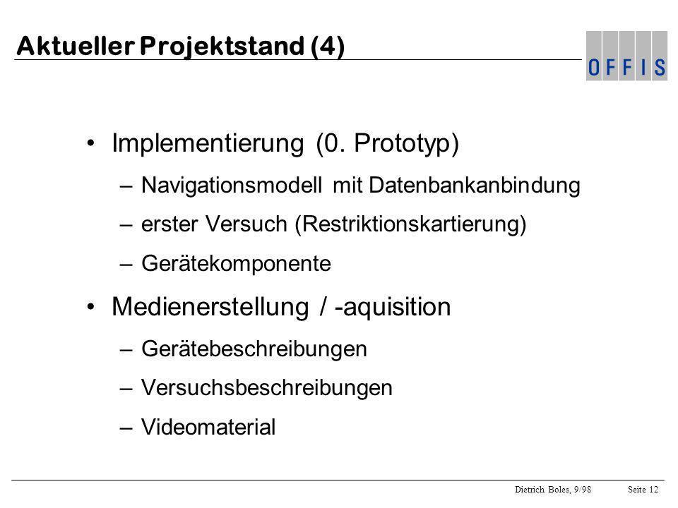 Aktueller Projektstand (4)