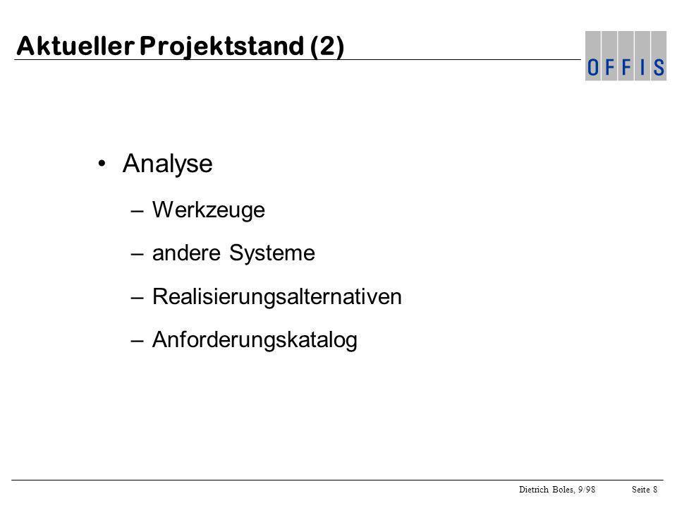 Aktueller Projektstand (2)