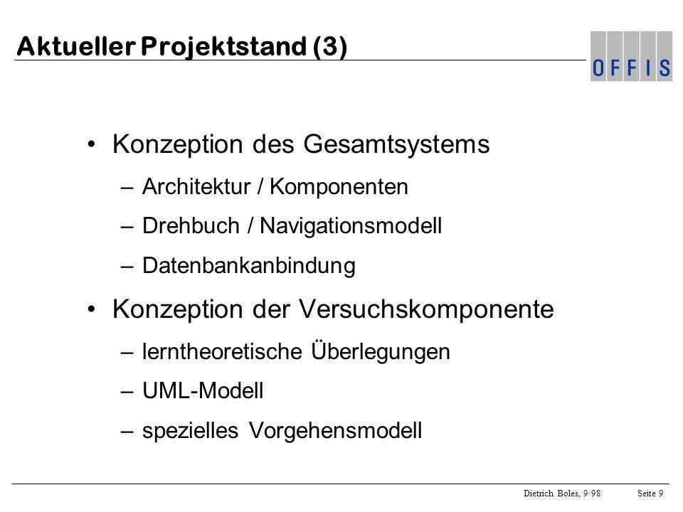 Aktueller Projektstand (3)
