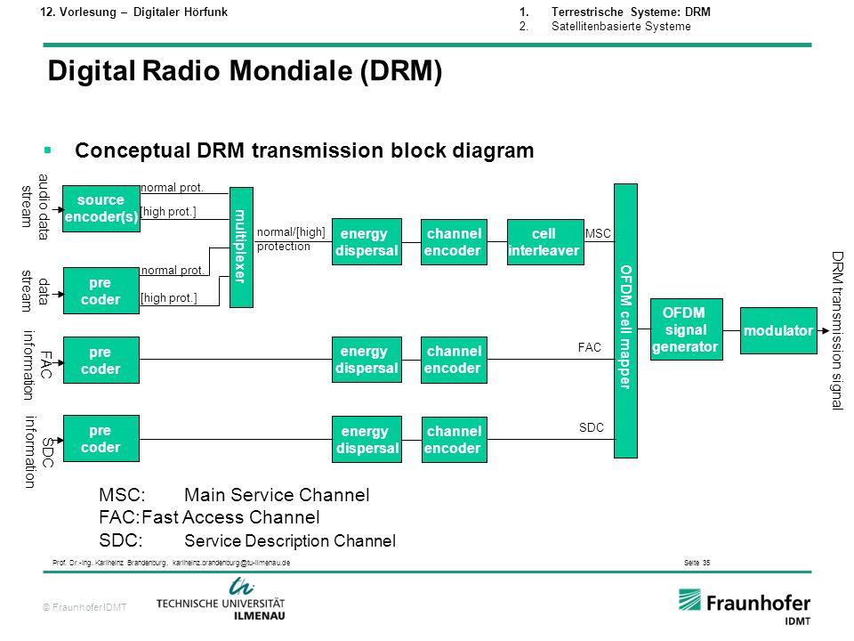 DRM transmission signal