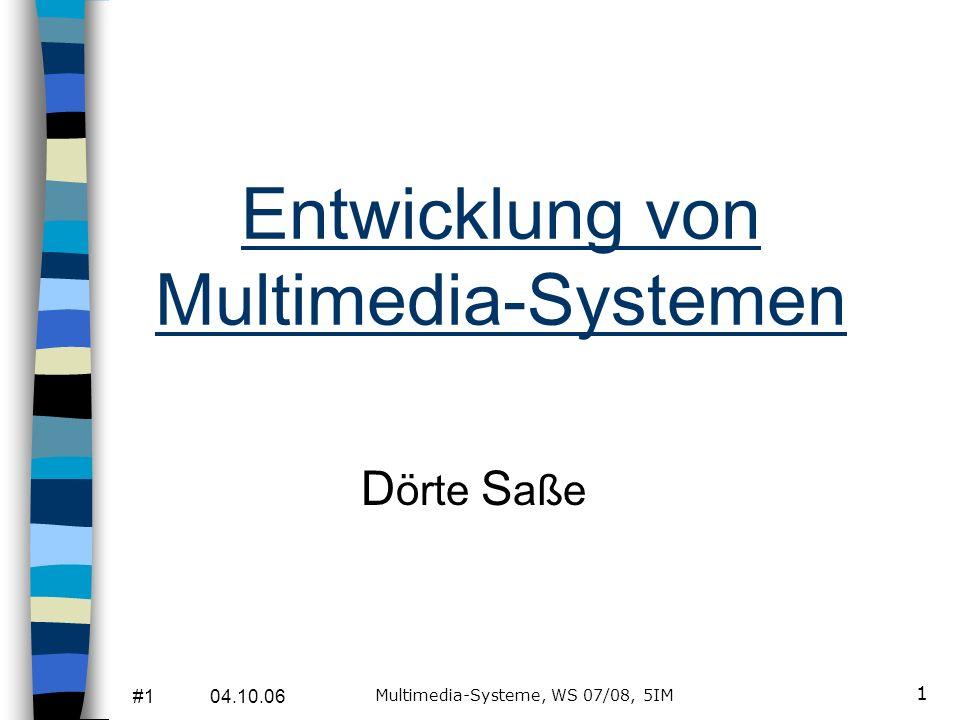 Entwicklung von Multimedia-Systemen