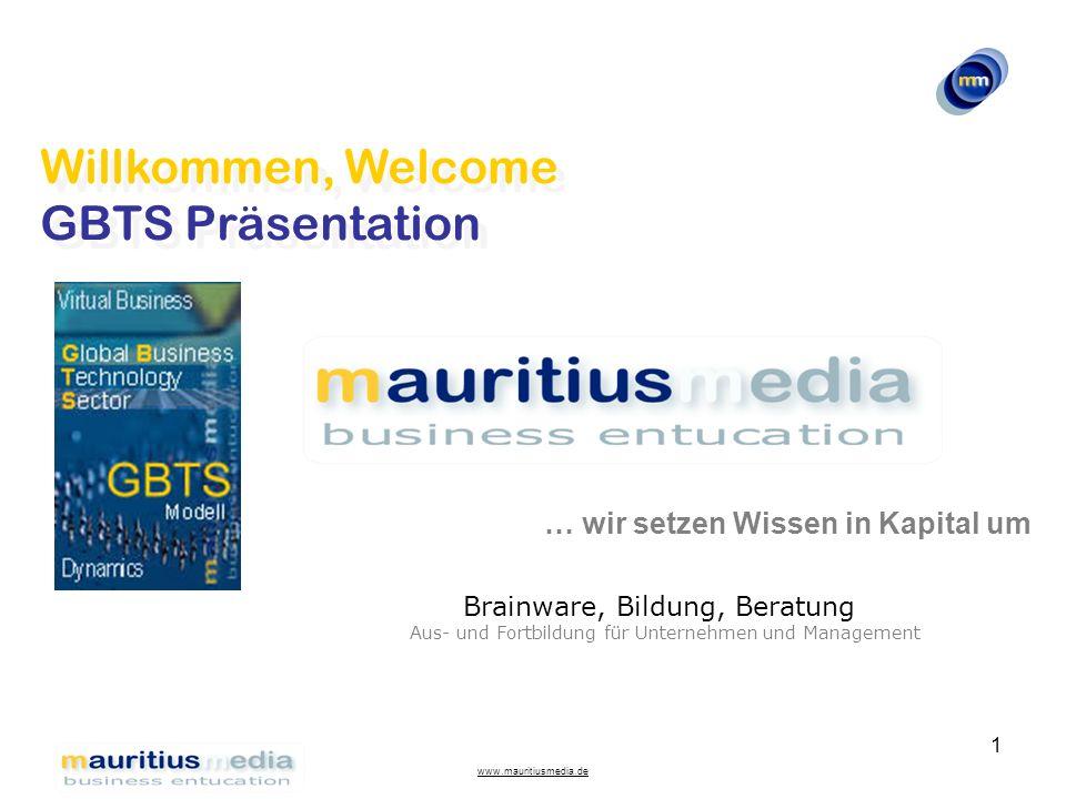 Willkommen, Welcome GBTS Präsentation