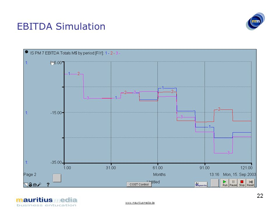 EBITDA Simulation www.mauritiusmedia.de