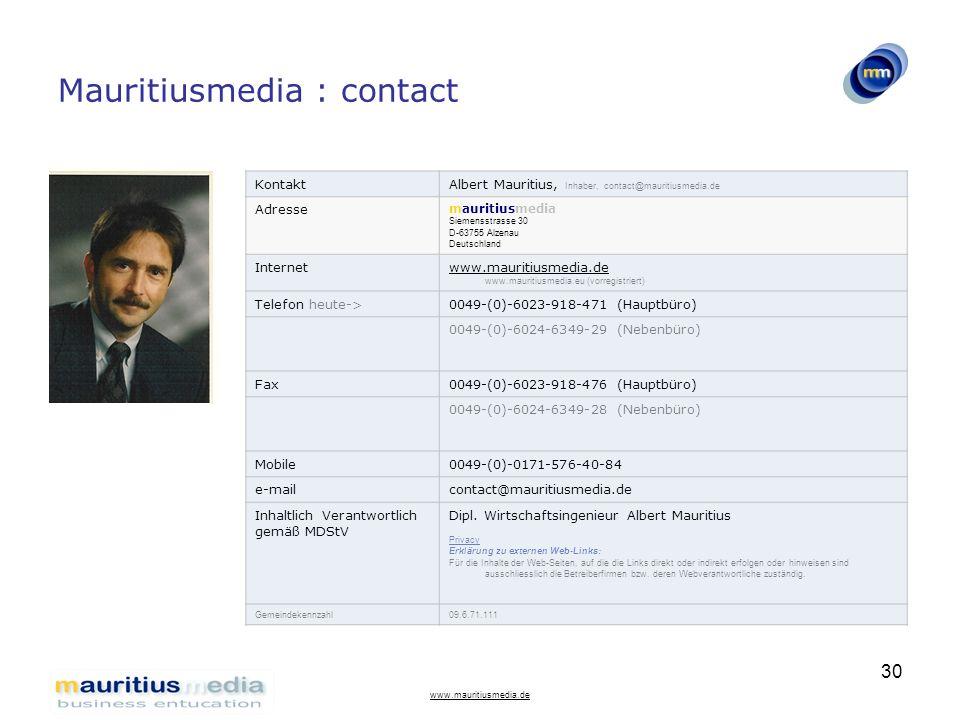 Mauritiusmedia : contact