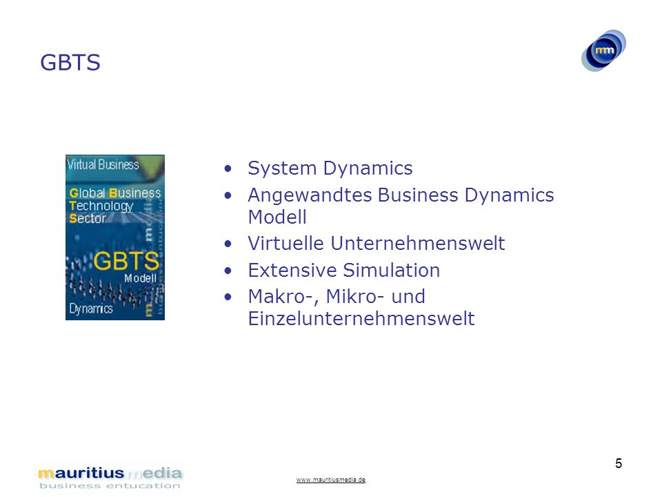 GBTS System Dynamics Angewandtes Business Dynamics Modell