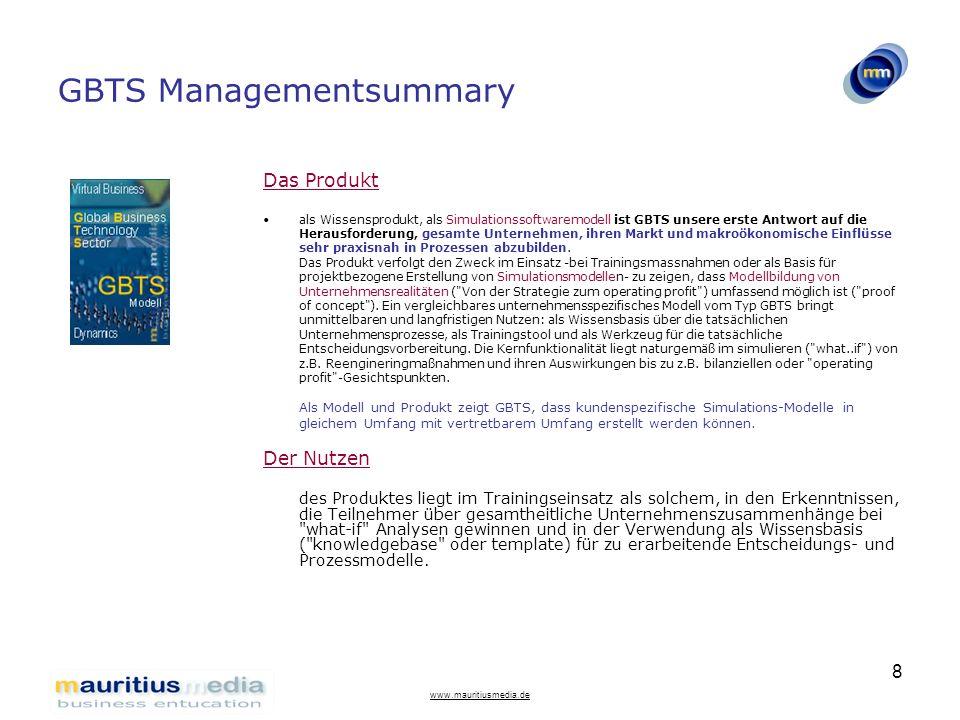 GBTS Managementsummary