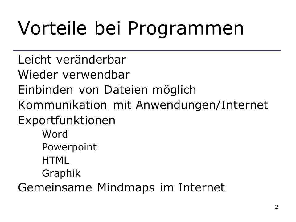 Vorteile bei Programmen
