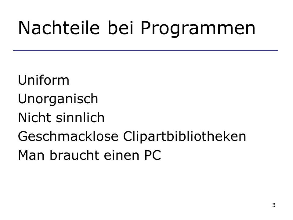 Nachteile bei Programmen