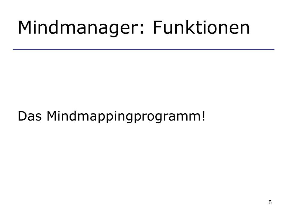 Mindmanager: Funktionen