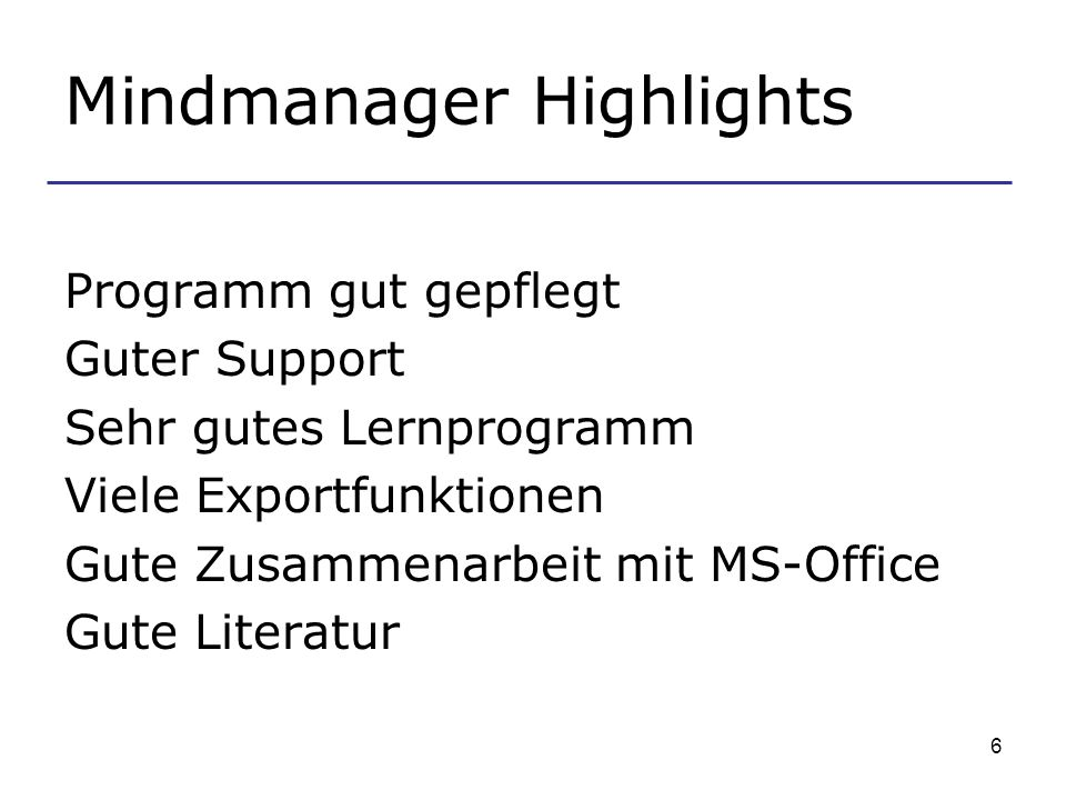 Mindmanager Highlights