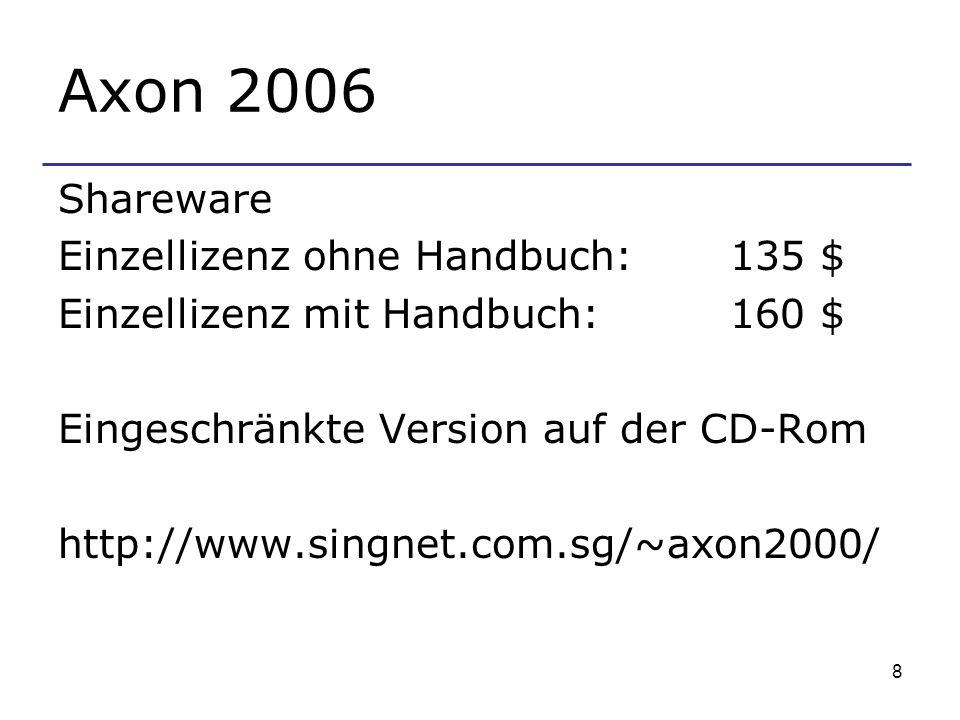 Axon 2006 Shareware Einzellizenz ohne Handbuch: 135 $