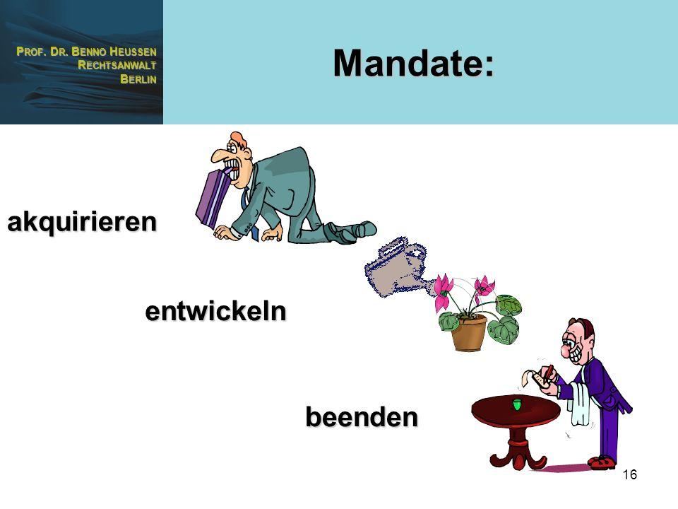 Mandate: akquirieren entwickeln beenden
