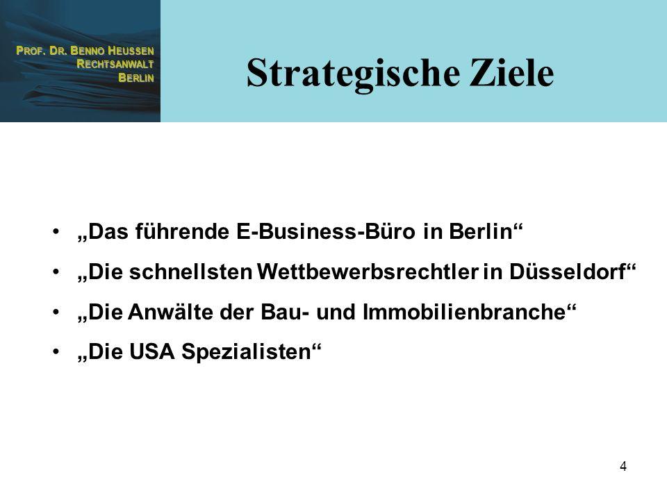 "Strategische Ziele ""Das führende E-Business-Büro in Berlin"