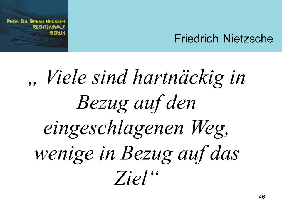 """Friedrich Nietzsche"""" Viele sind hartnäckig in Bezug auf den eingeschlagenen Weg, wenige in Bezug auf das Ziel"""
