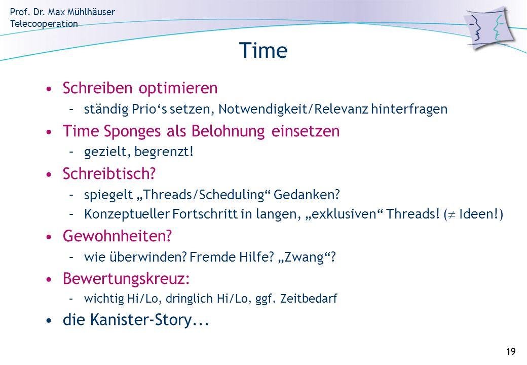 Time Schreiben optimieren Time Sponges als Belohnung einsetzen