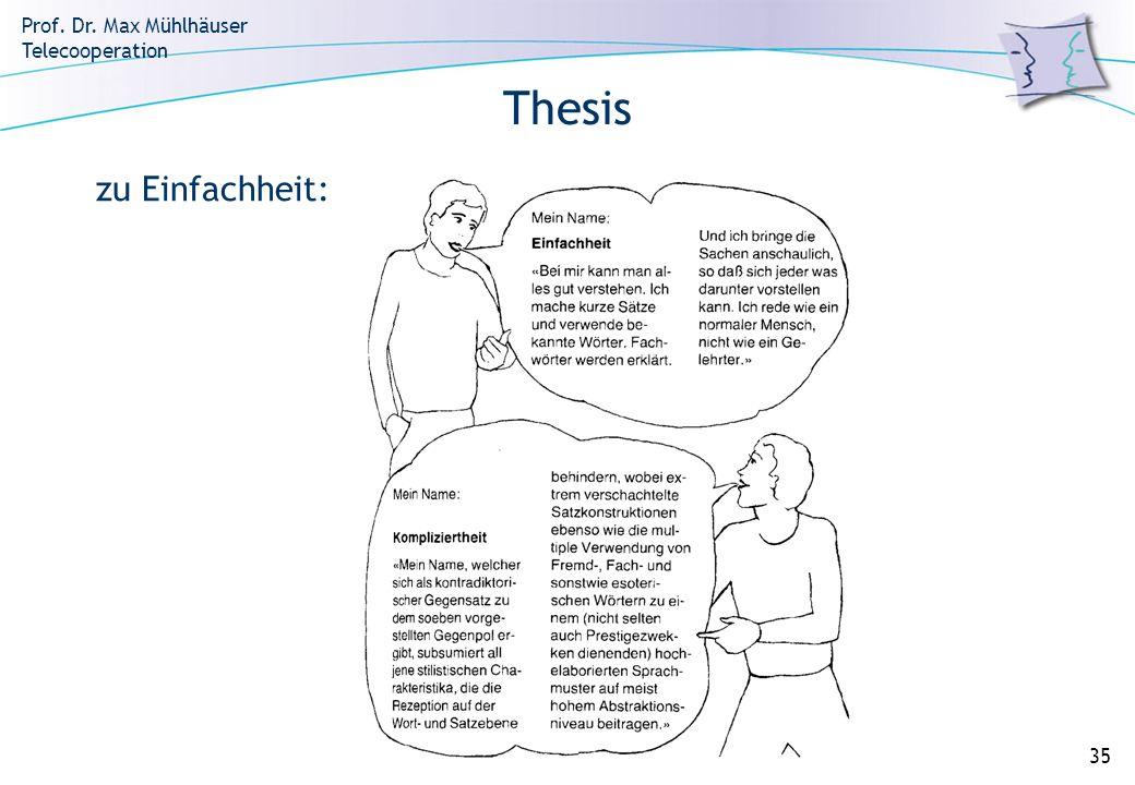 Thesis zu Einfachheit: